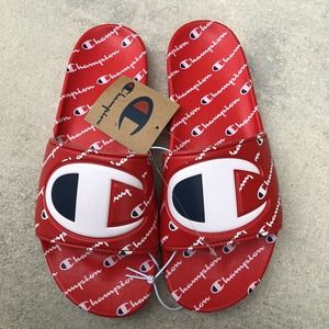 NWT CHAMPION Ipo Repeat Slides Red/Red CM100082M